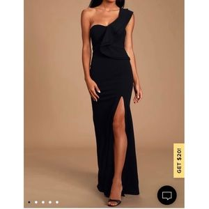 Lulus Kiss Me Again Black Maxi Dress